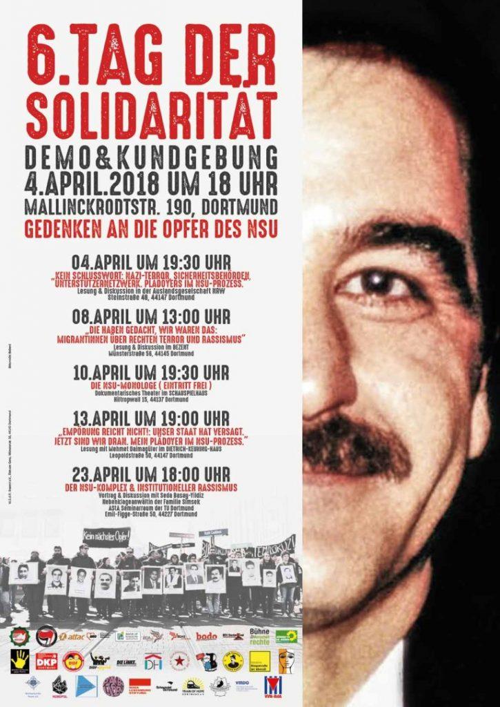 Plakatmotiv zum Gedenken an Mehmet Kubasik